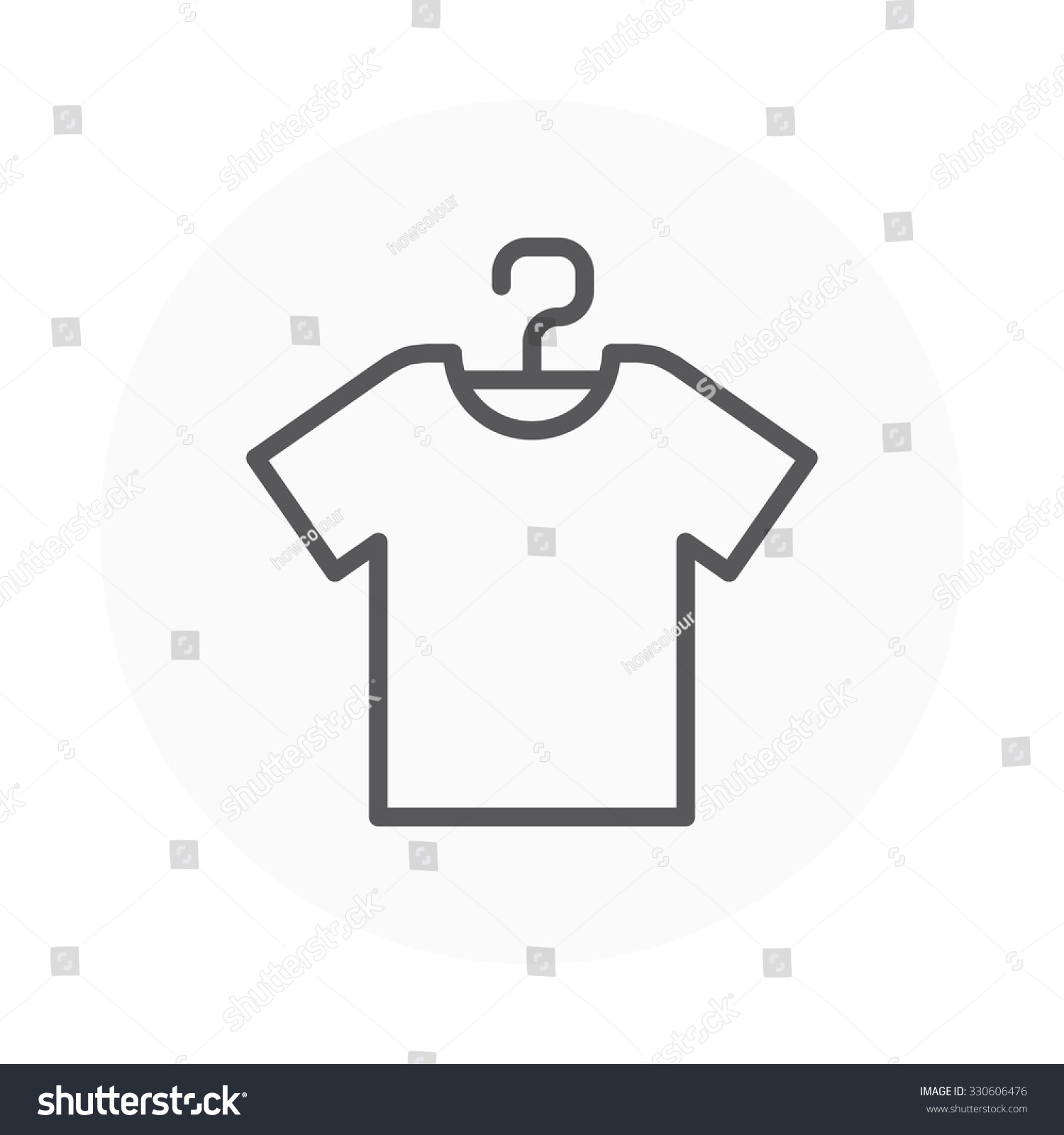 Shirt Icon Suitable Info Graphics Websites Stock Vector 330606476 ...