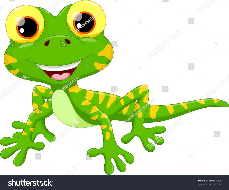 Caricature Clip Art Iguana – Cliparts Cute Reptiles Clipart