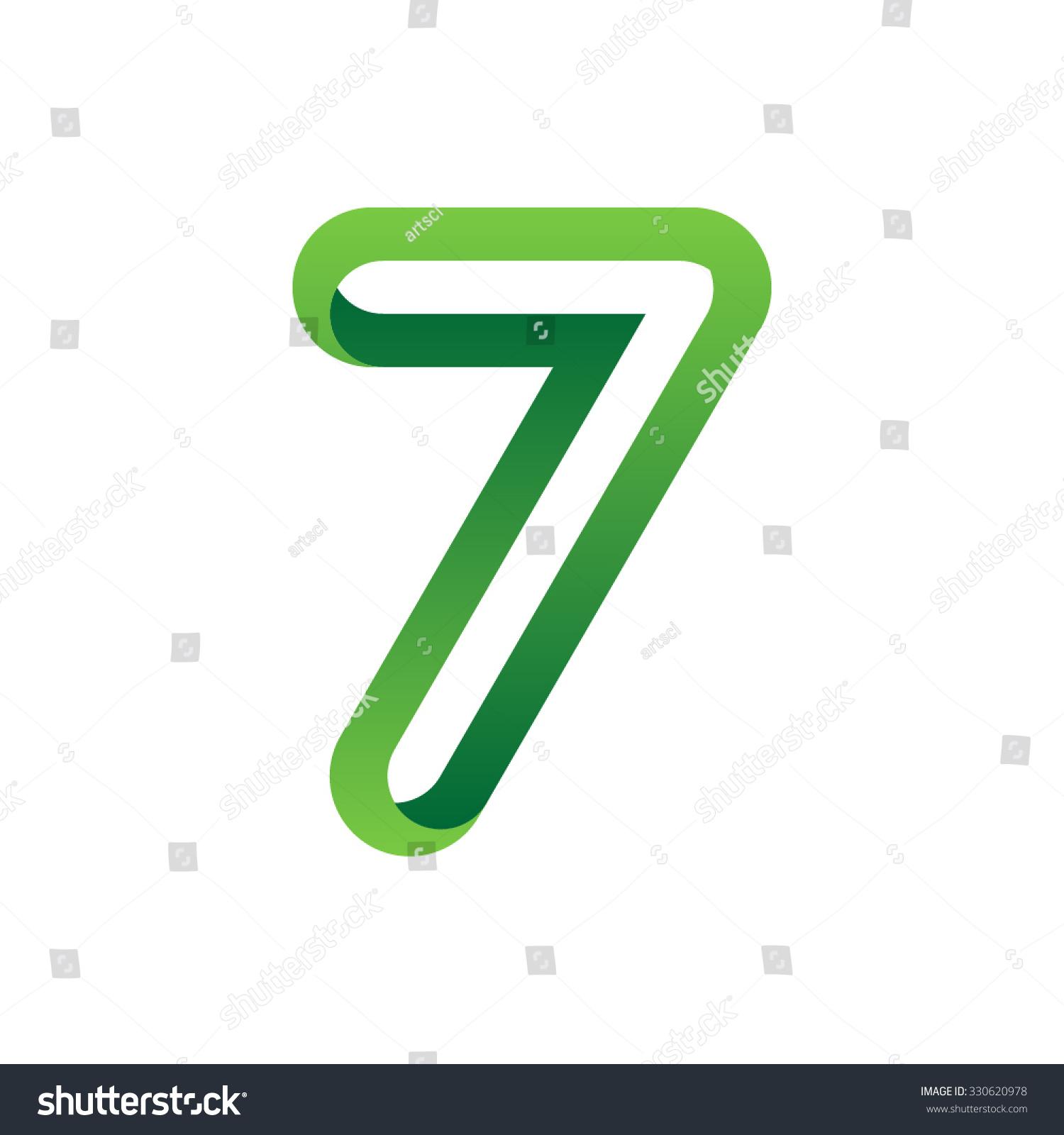 Color Number Seven Vector Stock Vector 330620978 - Shutterstock