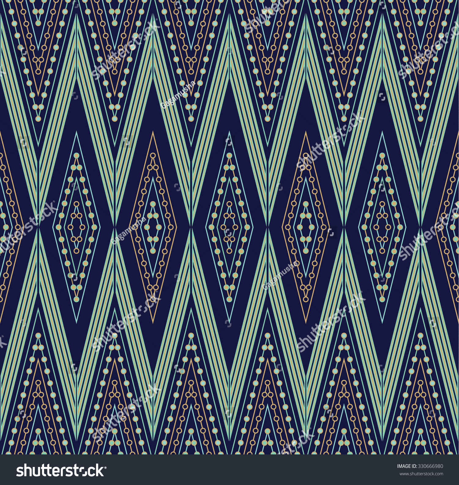 Ethnic Seamless Pattern. Abstract Geometric Design For Background Or  Wallpaper. Stylish Fabric Or Trendy