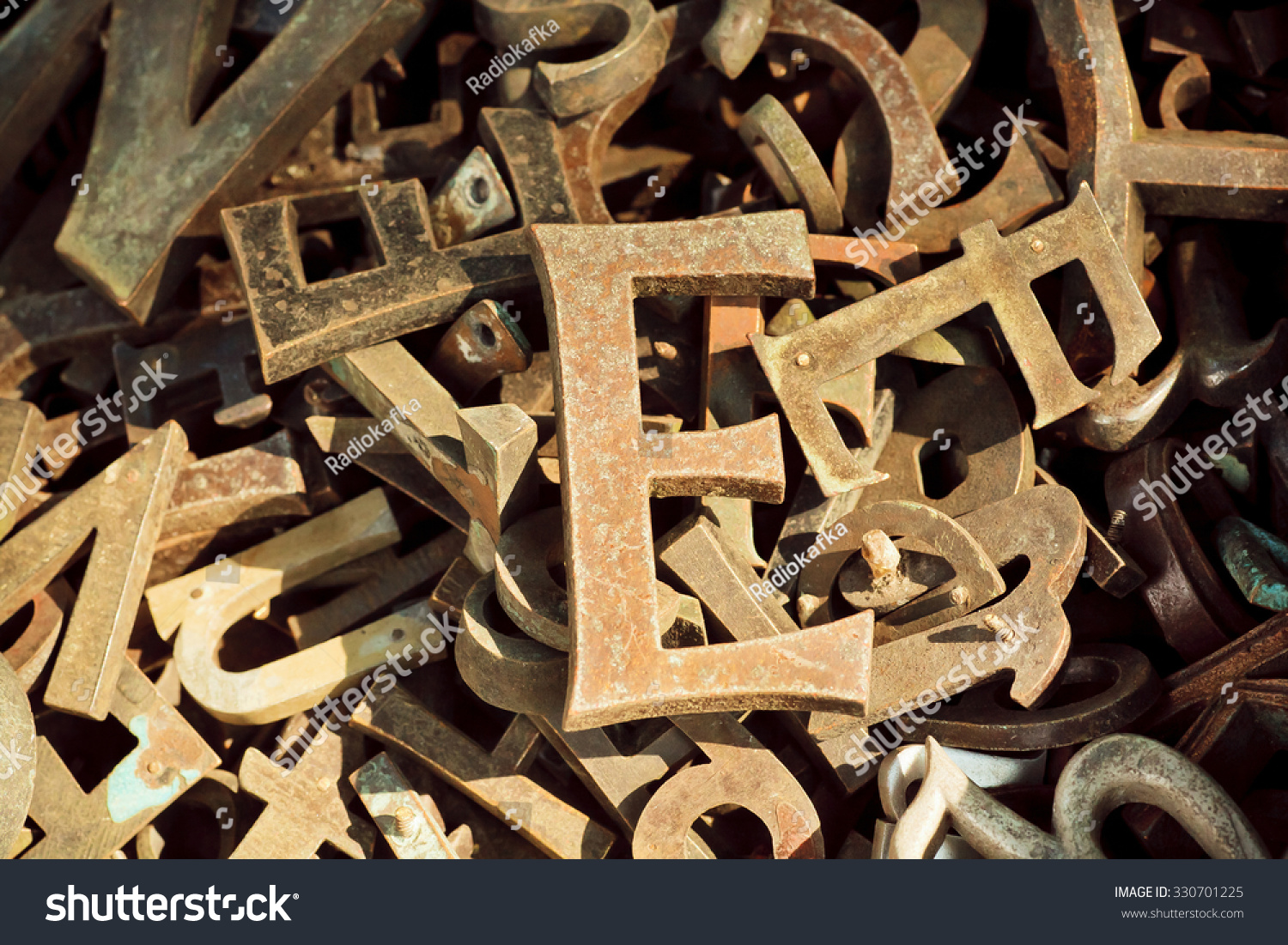 Old Metal Letters Gorgeous Vintage Alphabet Letters Keystrokes Old Metal Stock Photo Review