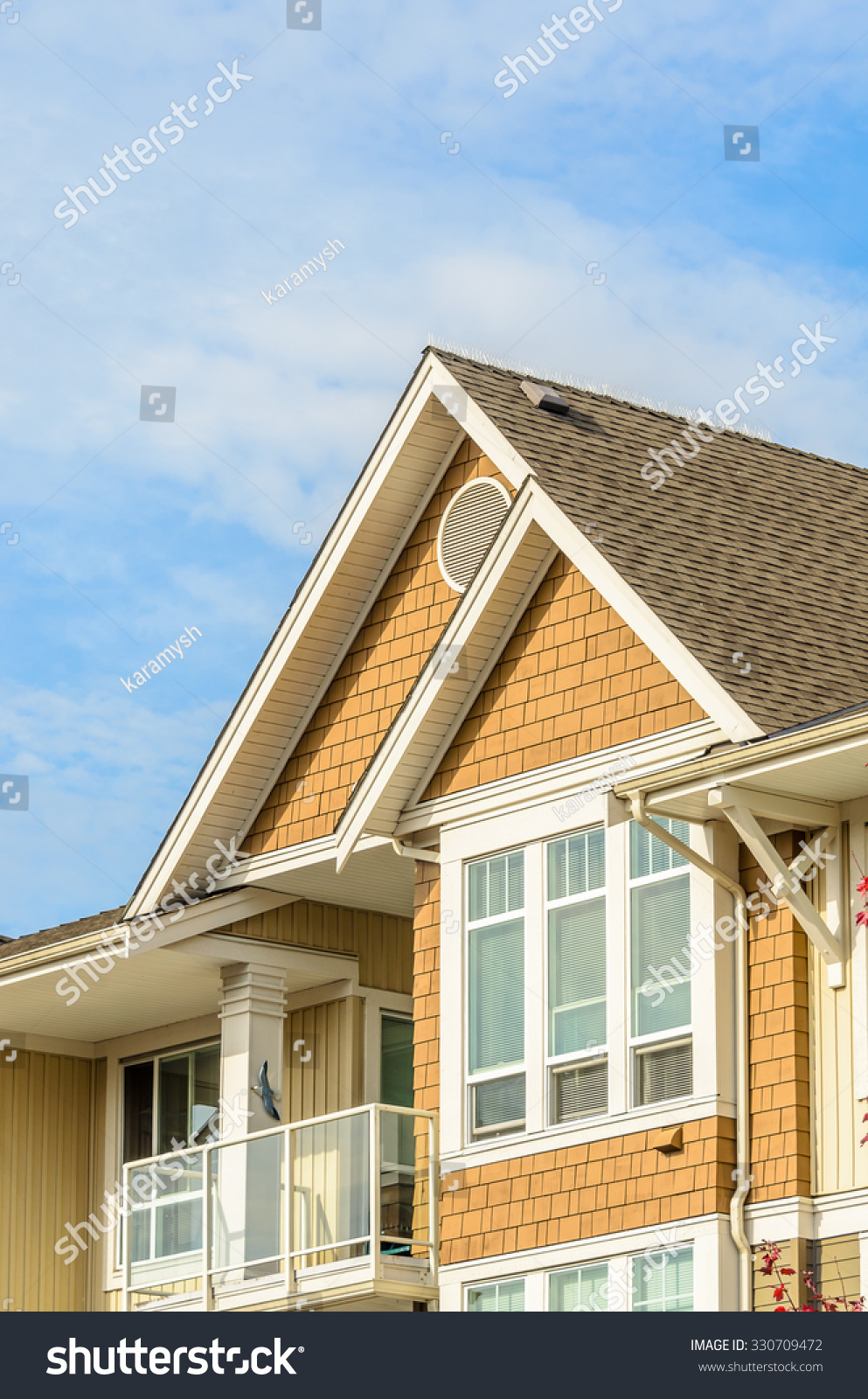 top house apartment building nice window stock photo 330709472 shutterstock. Black Bedroom Furniture Sets. Home Design Ideas