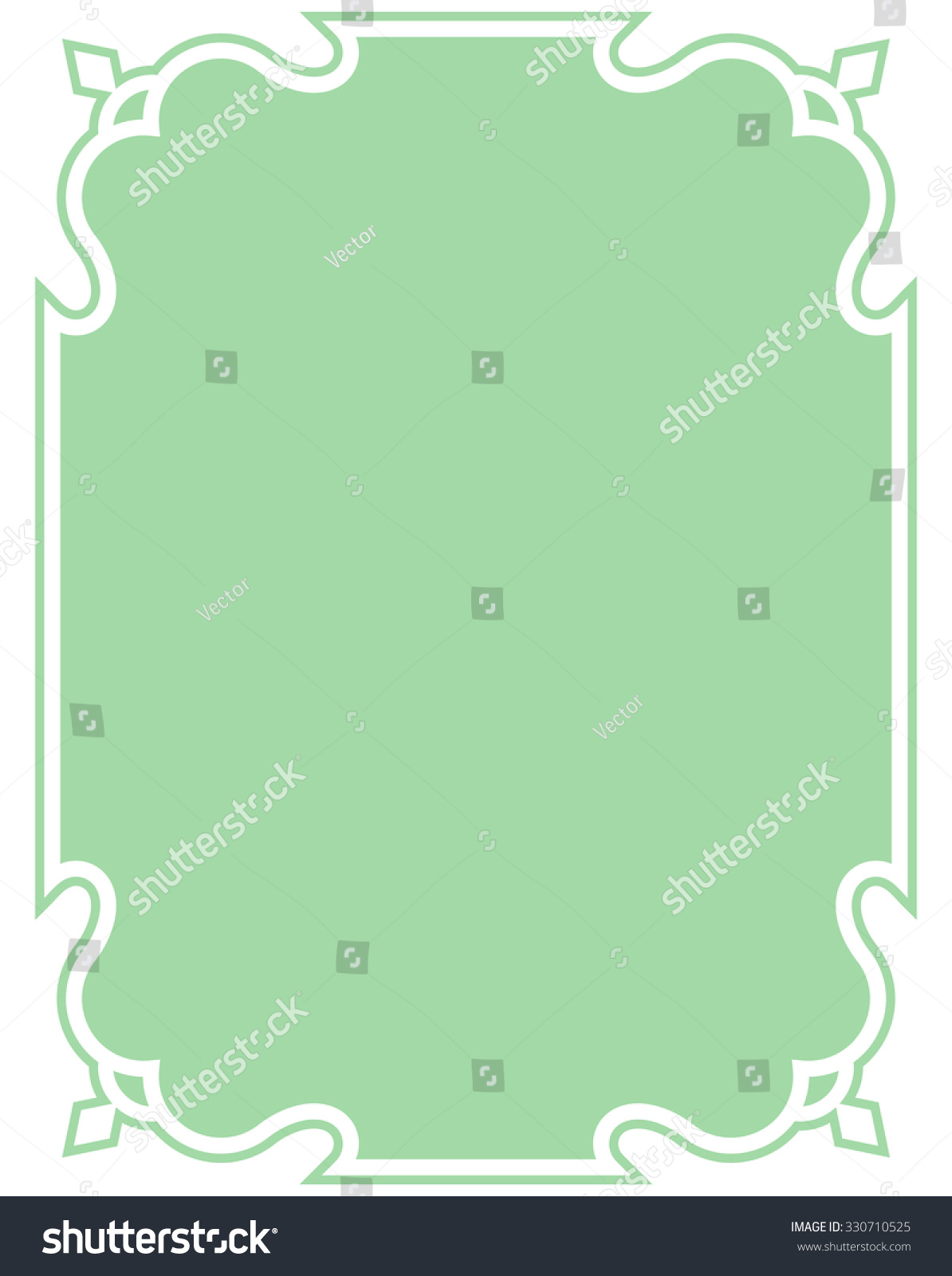 green border frame deco vector art stock vector 330710525 shutterstock. Black Bedroom Furniture Sets. Home Design Ideas