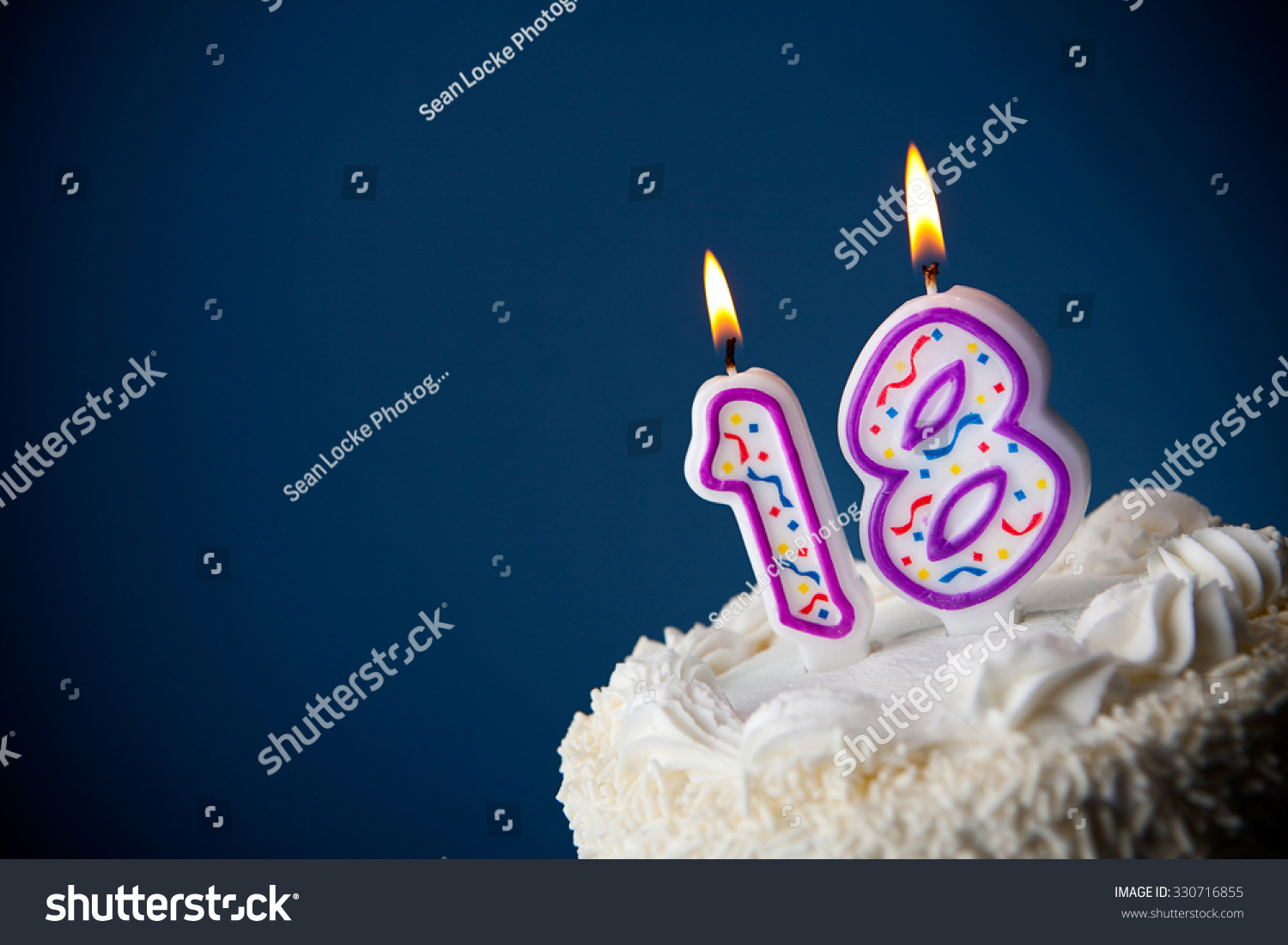 Cake Birthday Cake Candles 18th Birthday Stock Photo Edit Now