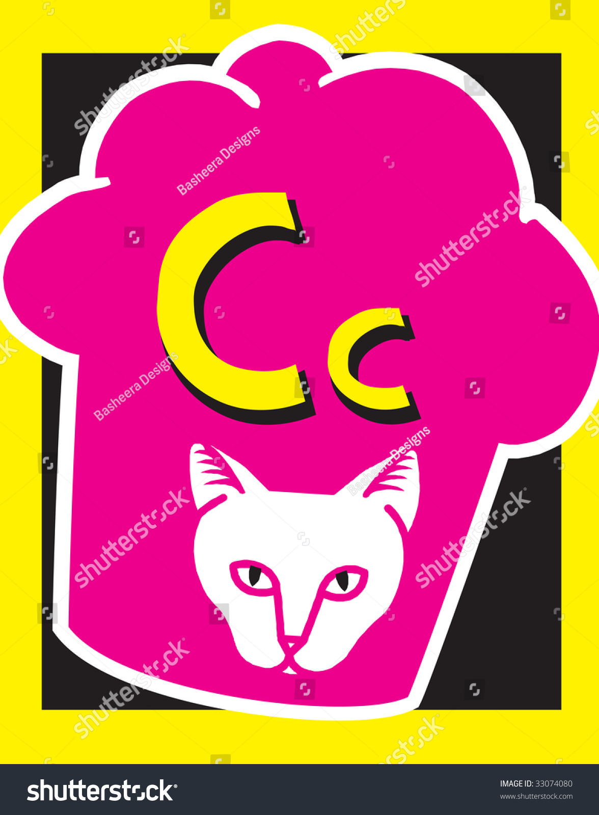 Flash Card Letter C Nouns See Stock Vector 33074080