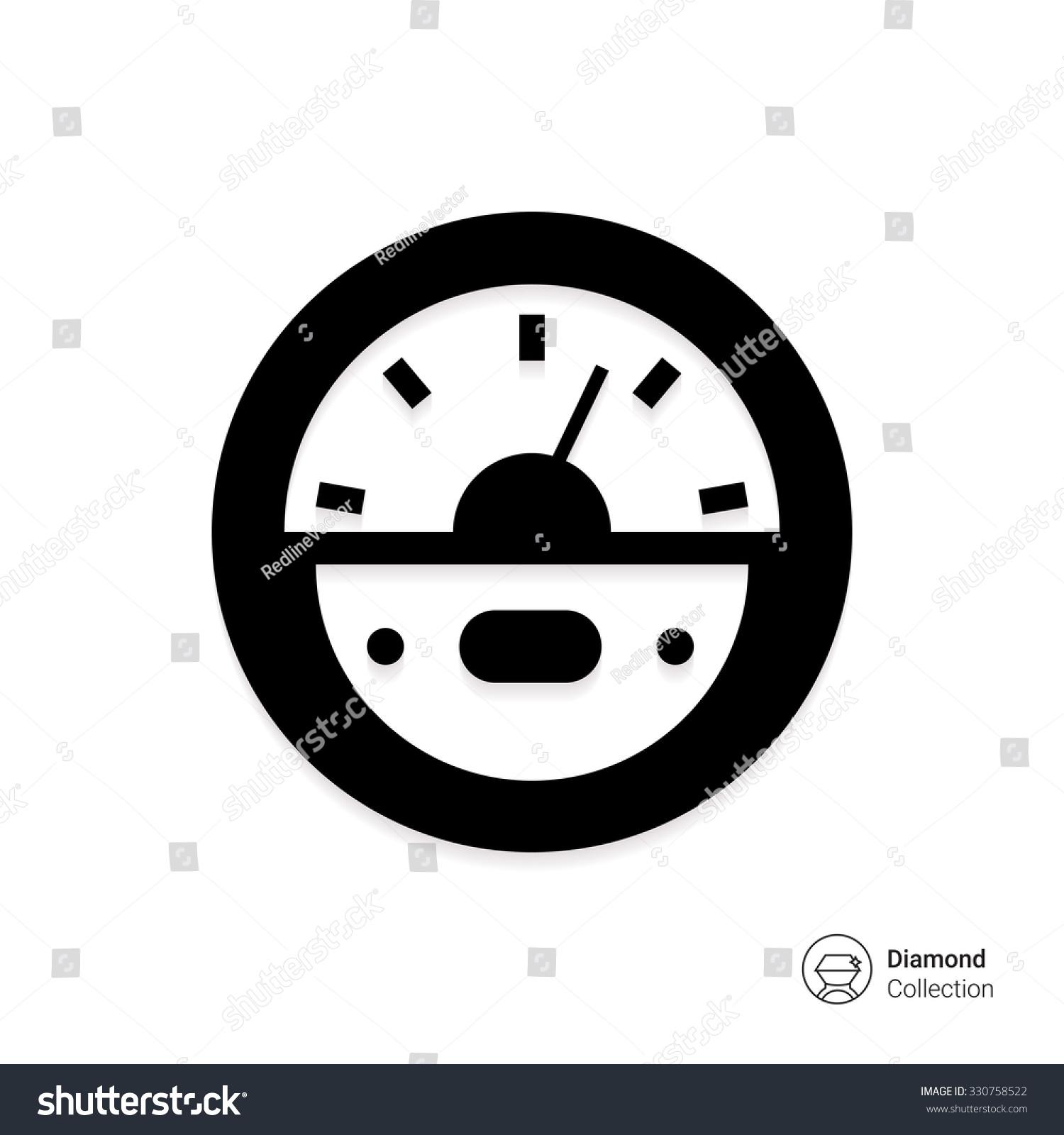 Vector Icon Round Parking Meter Symbol Stock Vector 330758522 ...