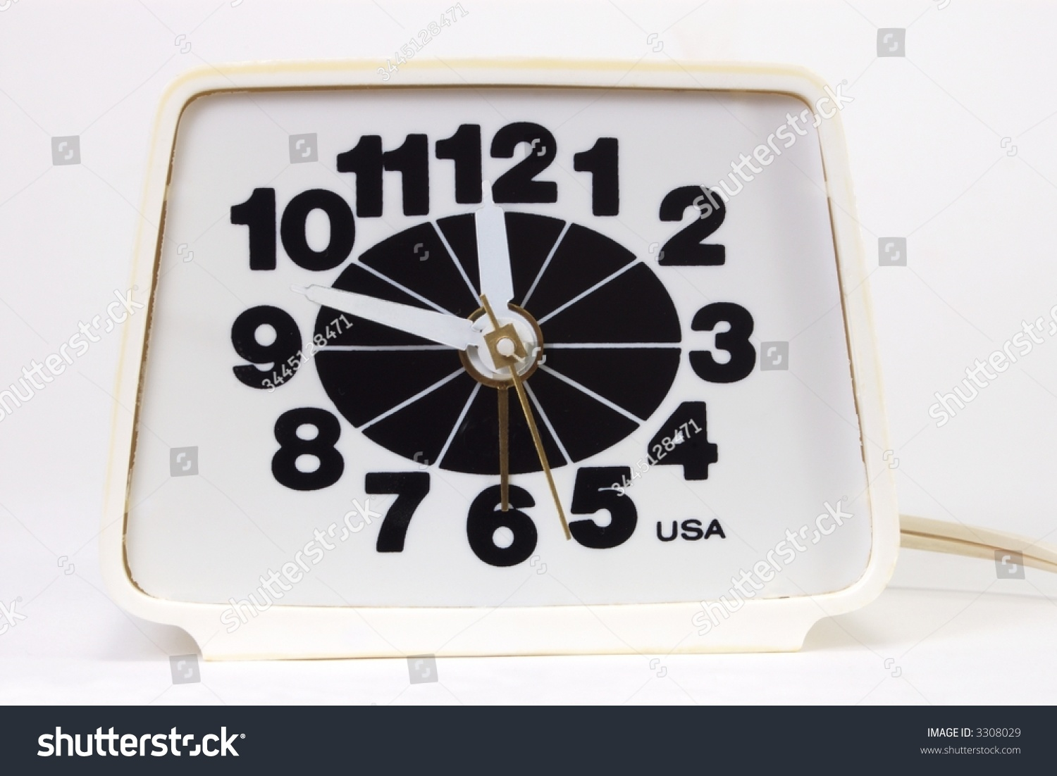 Old Electric Alarm Clock Made In Usa Stock Photo 3308029
