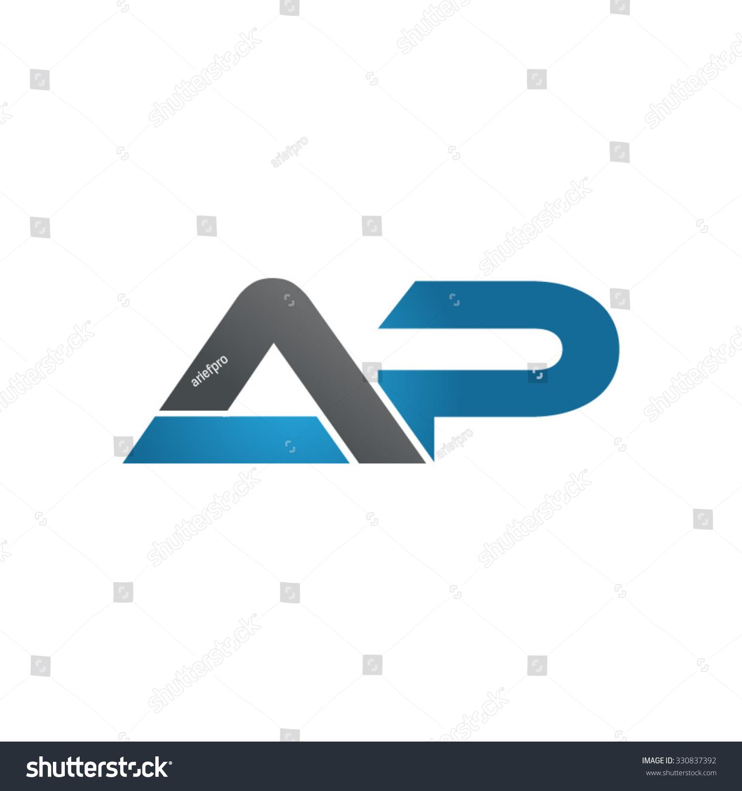 ap company linked letter logo blue stock vector 330837392. Black Bedroom Furniture Sets. Home Design Ideas