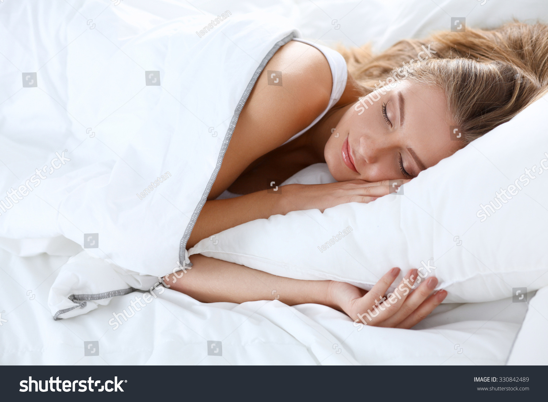 Beautiful Girl Sleeps Bedroom Stock Photo 330842489 Shutterstock