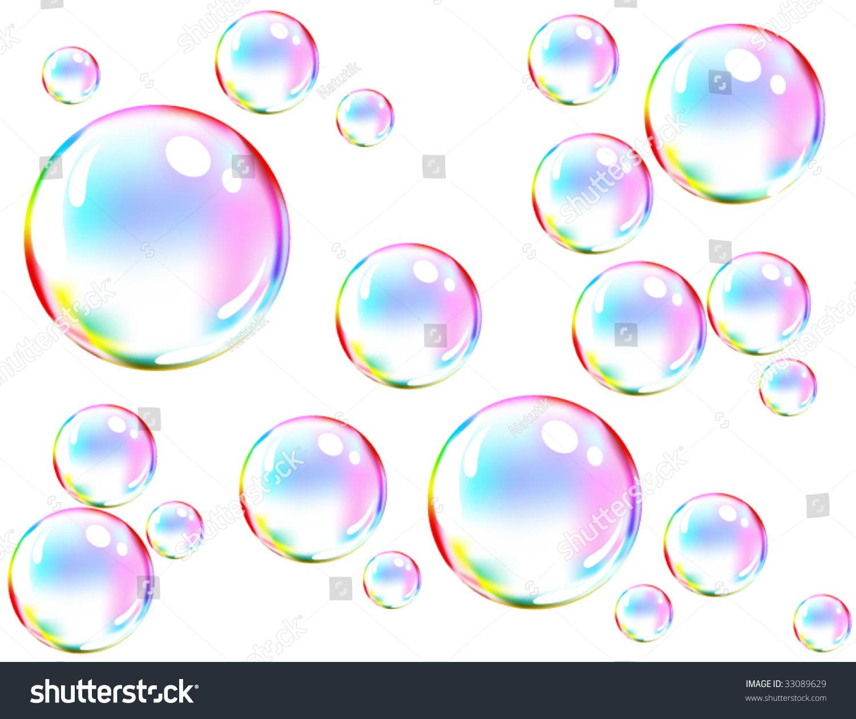 Vector Of Colored Soap Bubbles - 33089629 : Shutterstock