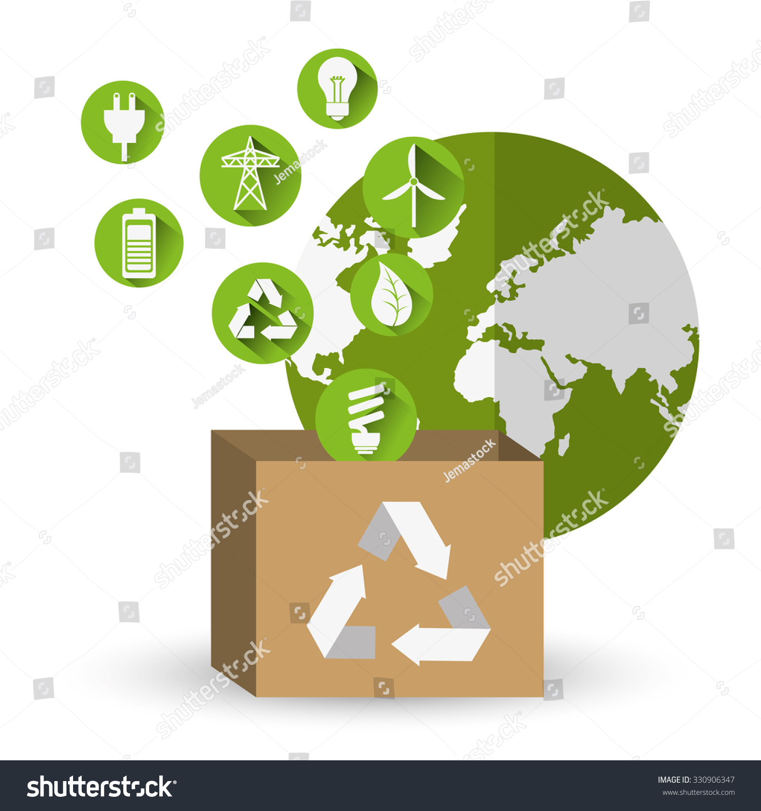 go green concept eco icons design stock vector 330906347 shutterstock. Black Bedroom Furniture Sets. Home Design Ideas