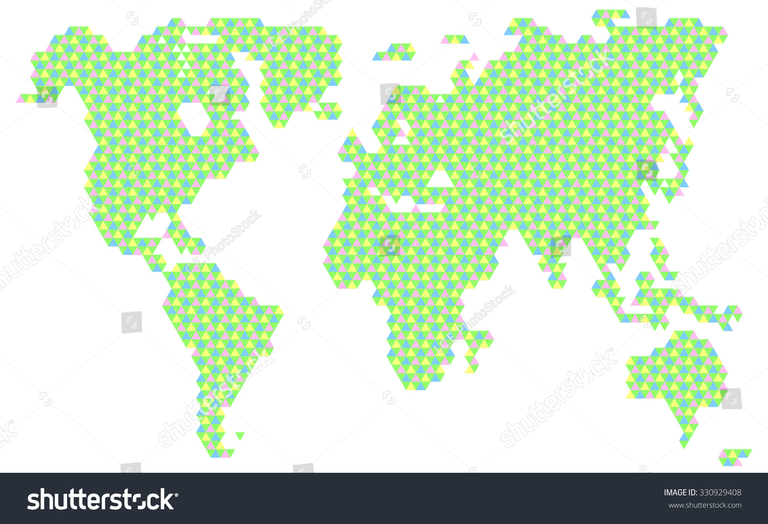 Vector illustration color world map made stock vector 330929408 vector illustration of color world map made of triangles gumiabroncs Gallery