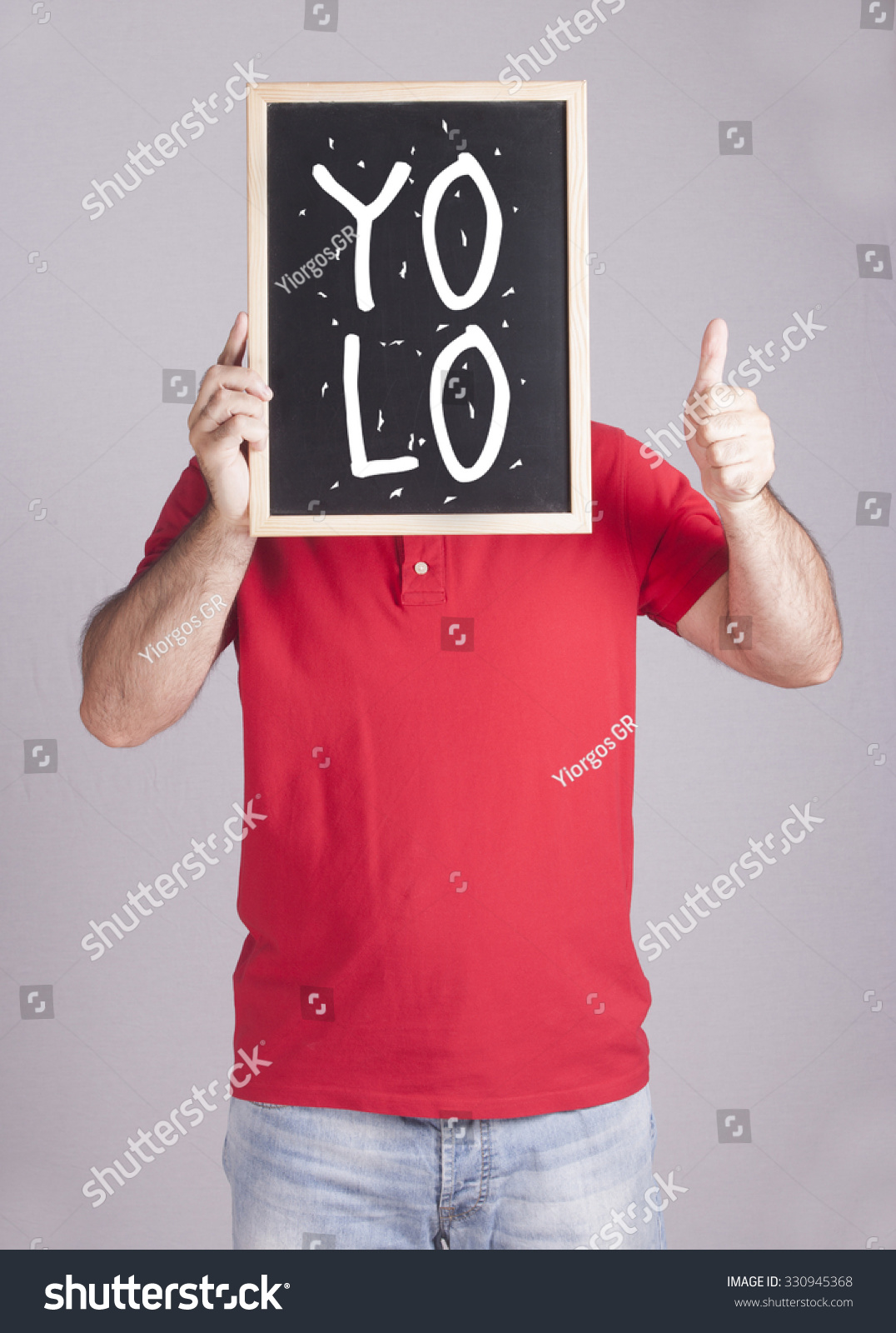Motivational Concept Man Holding Board You Stock Photo (Edit