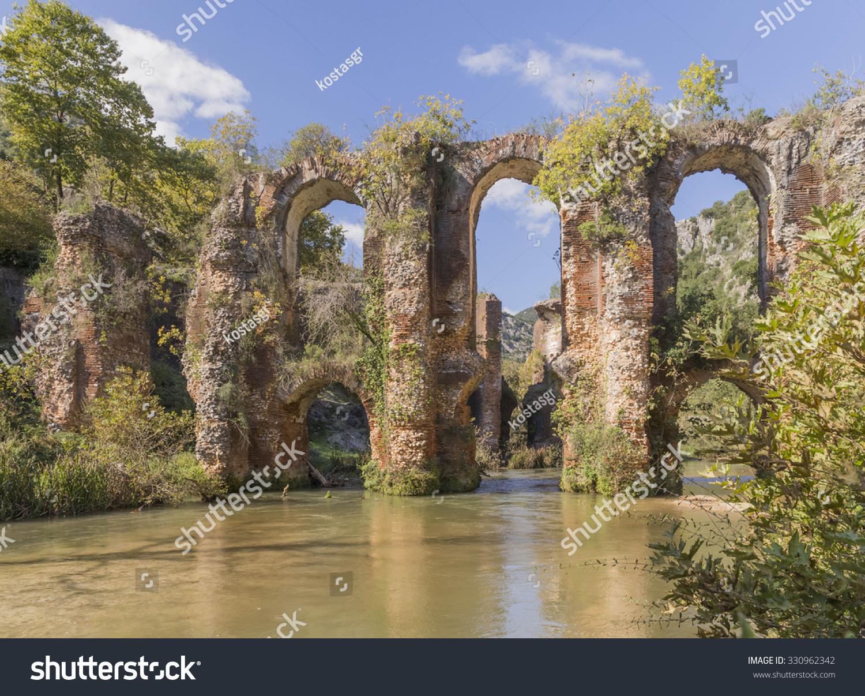 Roman Aqueduct Ancient Nikopolis Starts Northern Stock ...