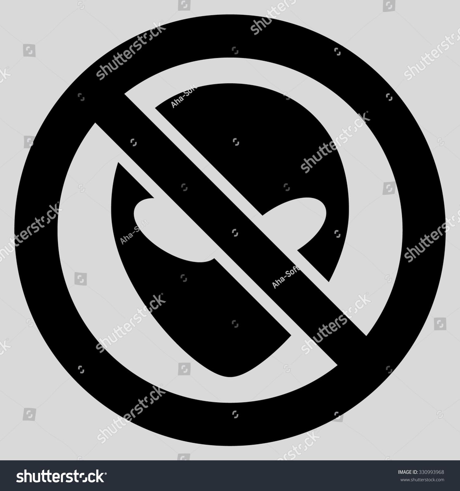 Forbidden Alien Vector Icon Style Flat Stock Vector Royalty Free
