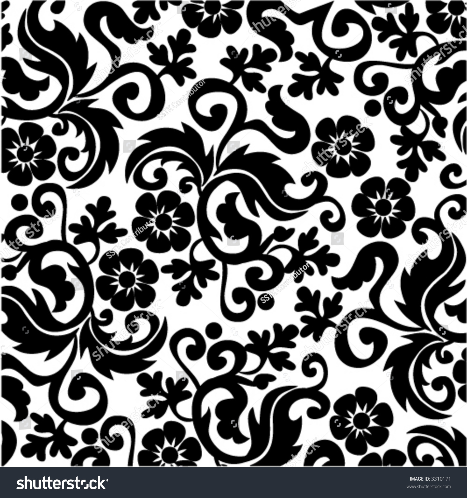 royal scroll pattern vol black 01 stock vector royalty free