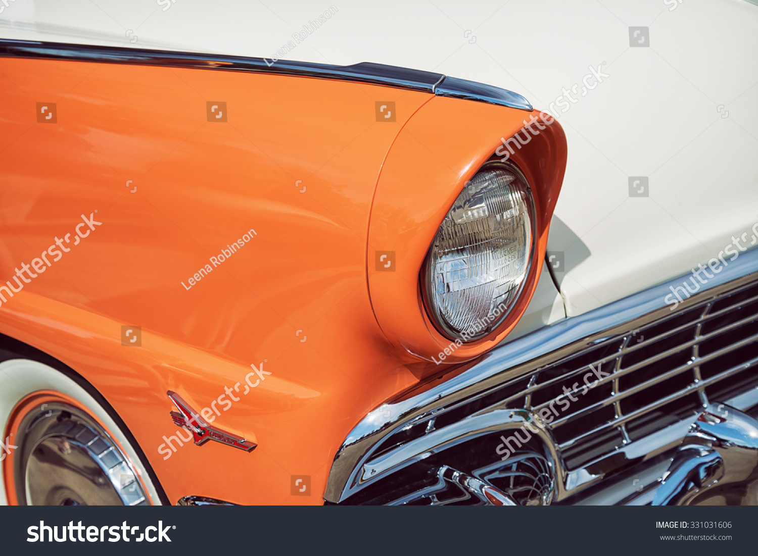 Westlake Texas October 17 2015 Side Stock Photo Edit Now 331031606 1955 Ford F100 View Of A Mandarin Orange And