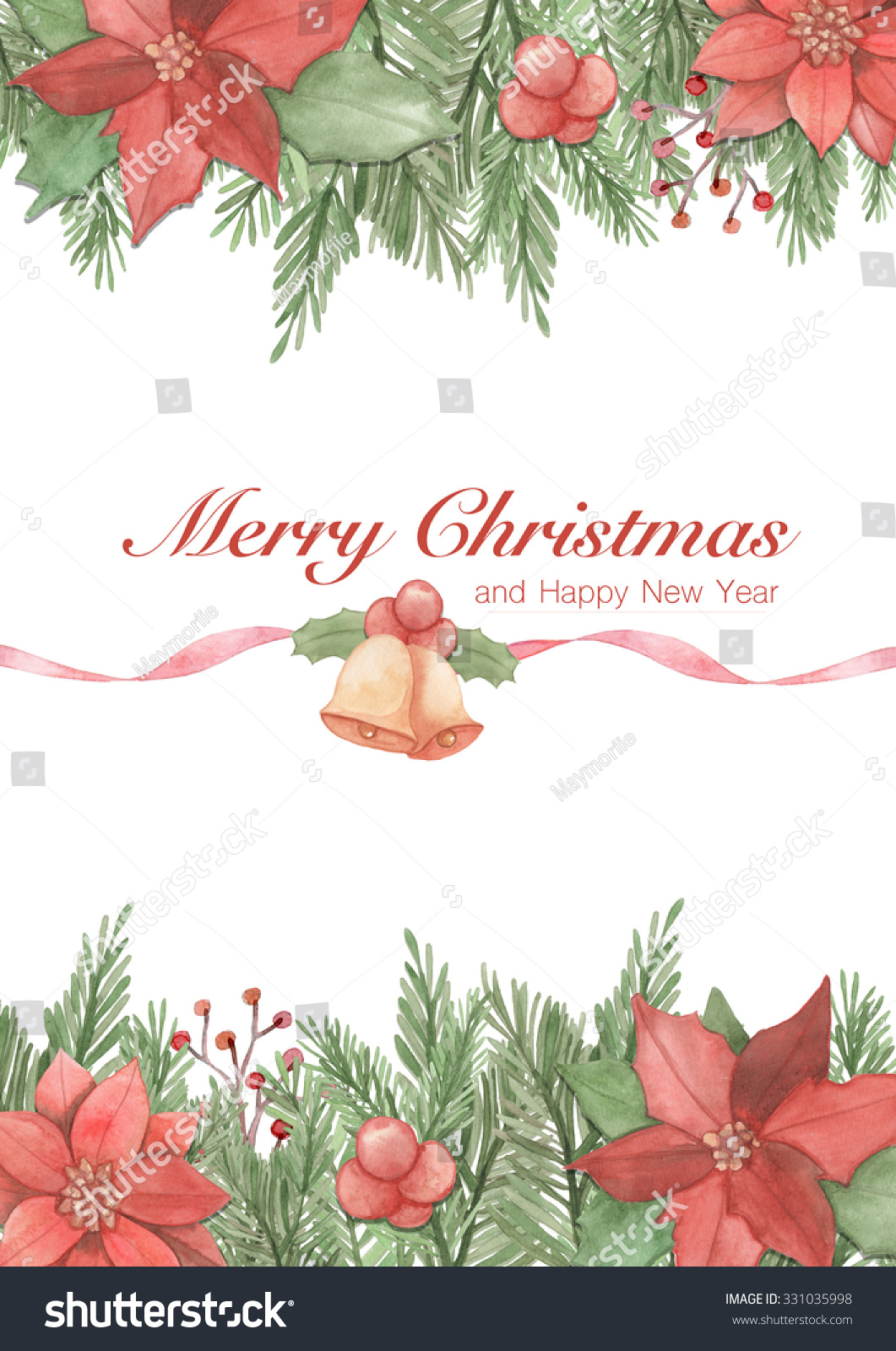 Royalty Free Stock Illustration of Christmas Greeting Card Merry ...