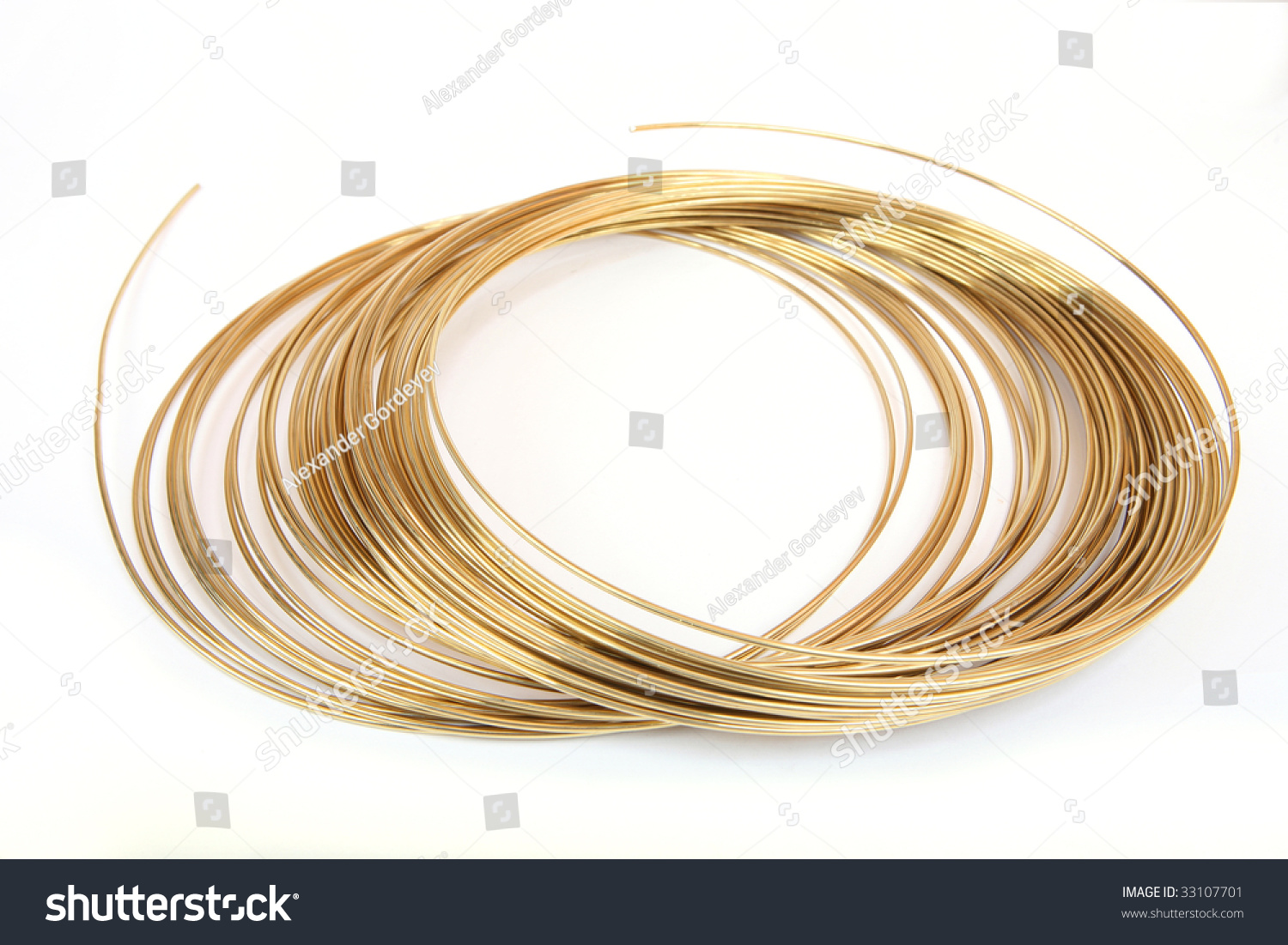 Solder Wire On White Background Stock Photo (Royalty Free) 33107701 ...