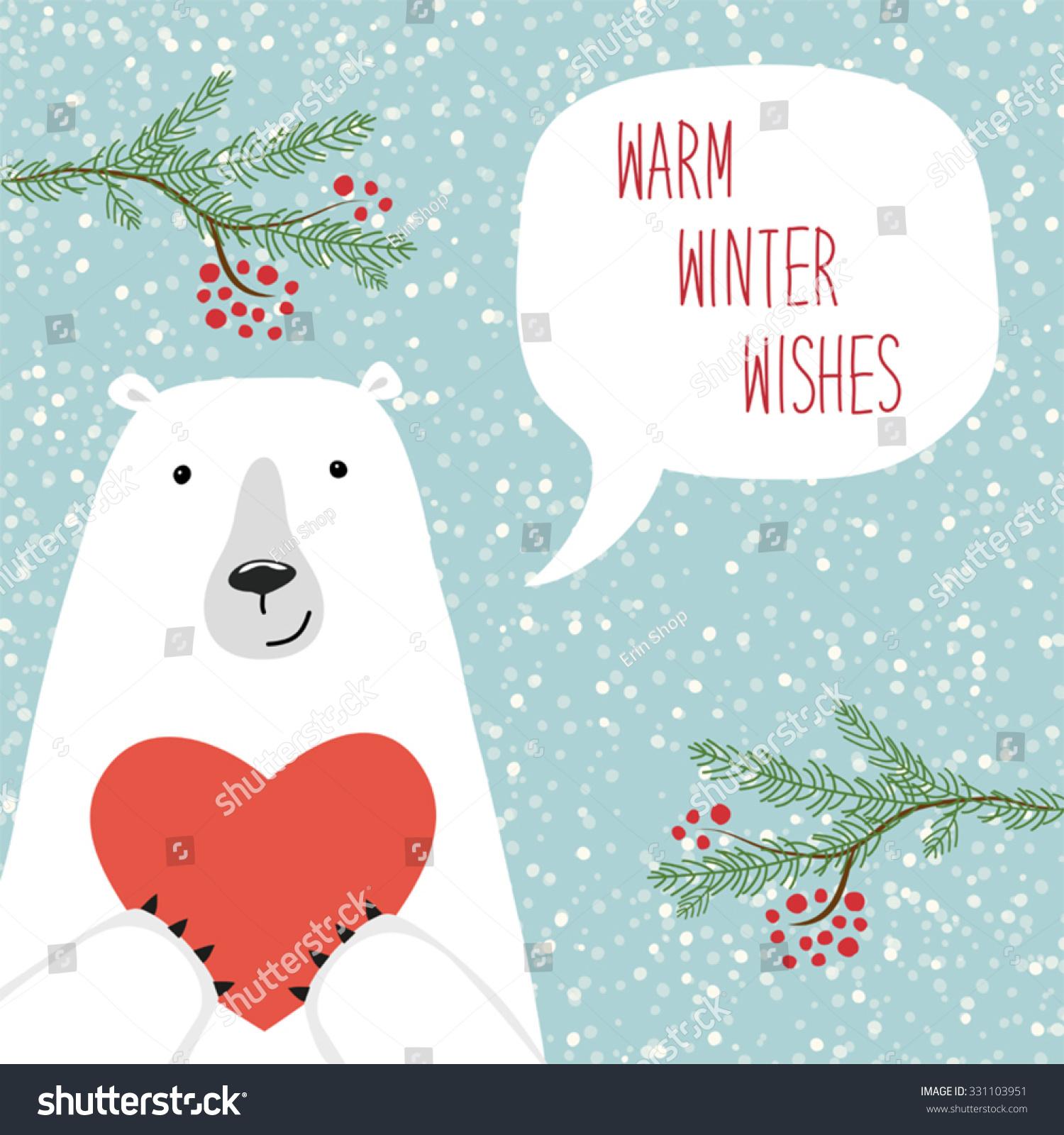 cute hand drawn polar bear speech stock vector 331103951. Black Bedroom Furniture Sets. Home Design Ideas