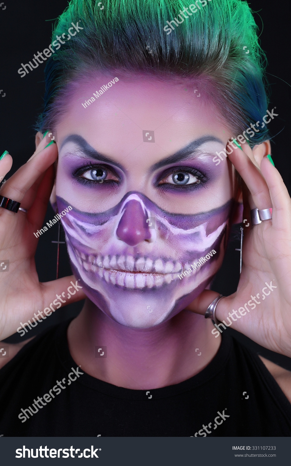 girl image zombie makeup halloween stock photo (edit now) 331107233