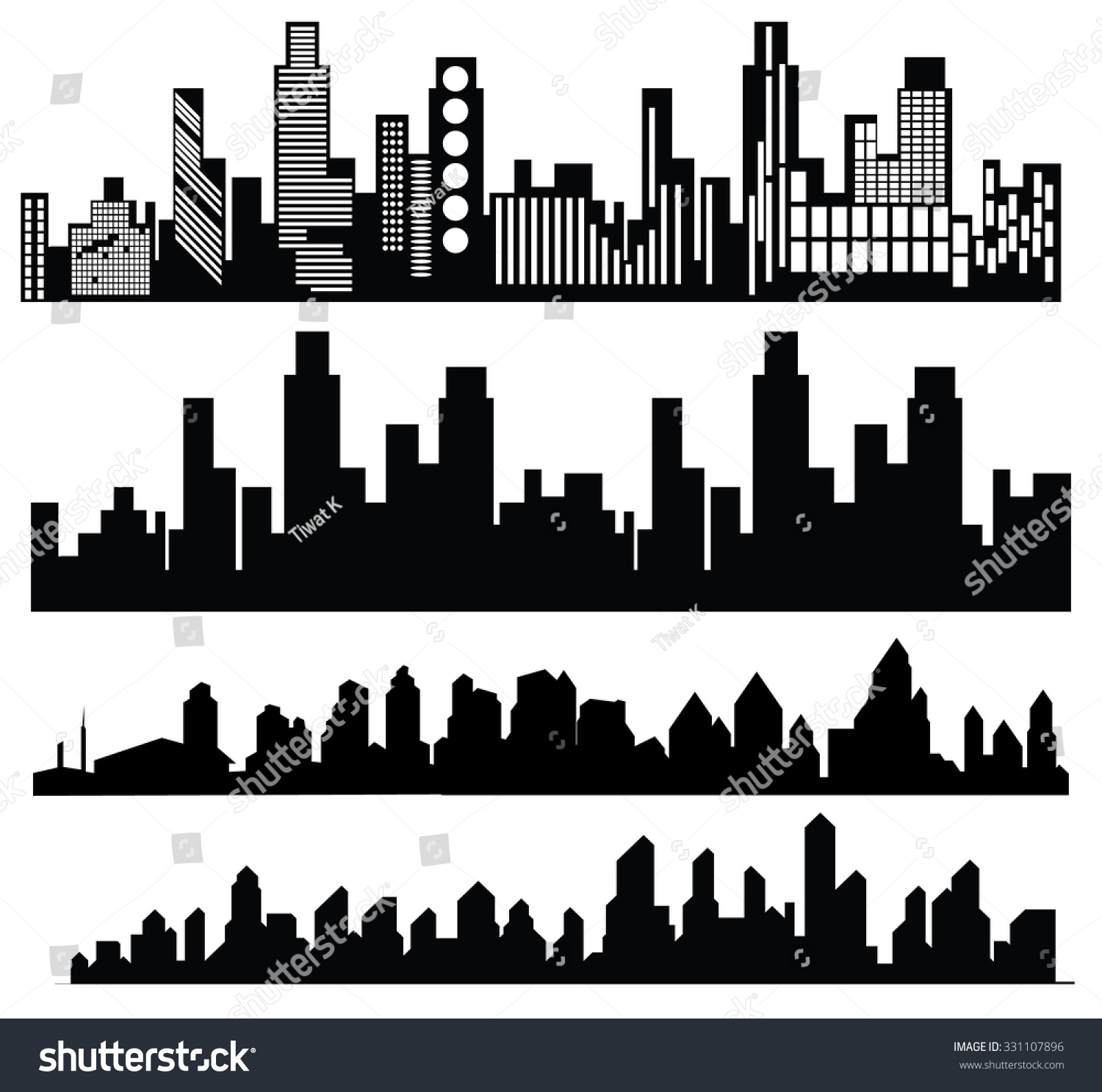 Royalty free vector black city icons set on white 331107896 stock vector black city icons set on white 331107896 voltagebd Images