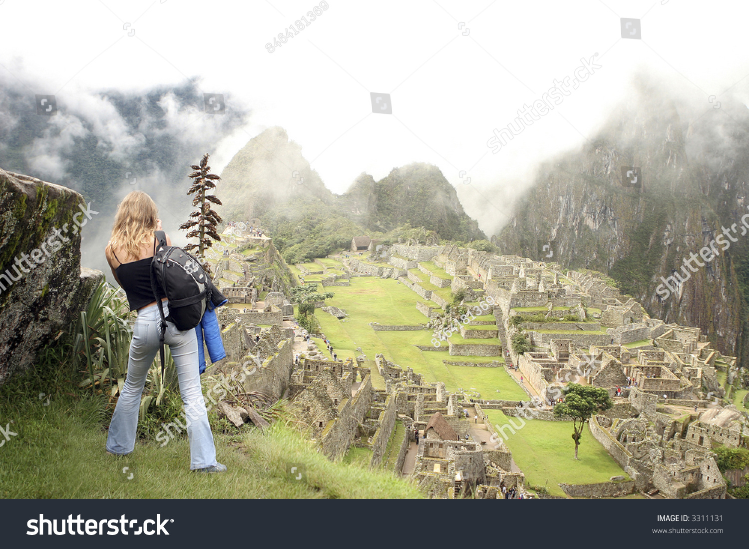 Peruvian Riddle of the Stone with a model of the city