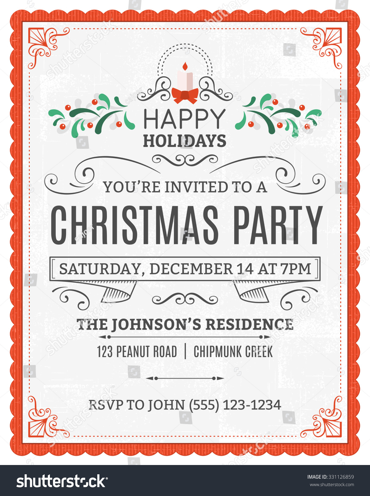 Free Templates For Invitations Printable is best invitations template