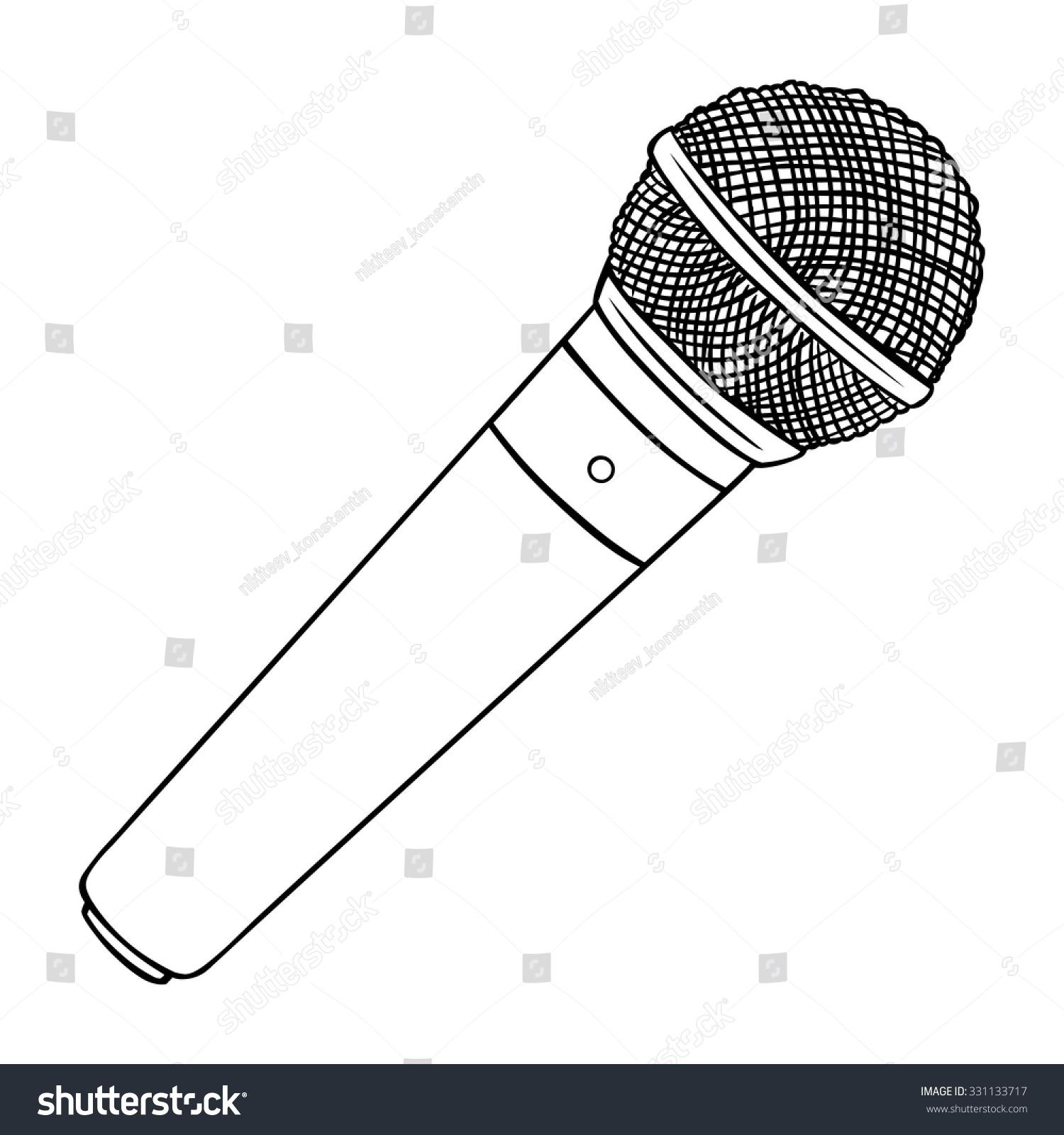 Line Art Microphone : Vector line art dinamic microphone shutterstock