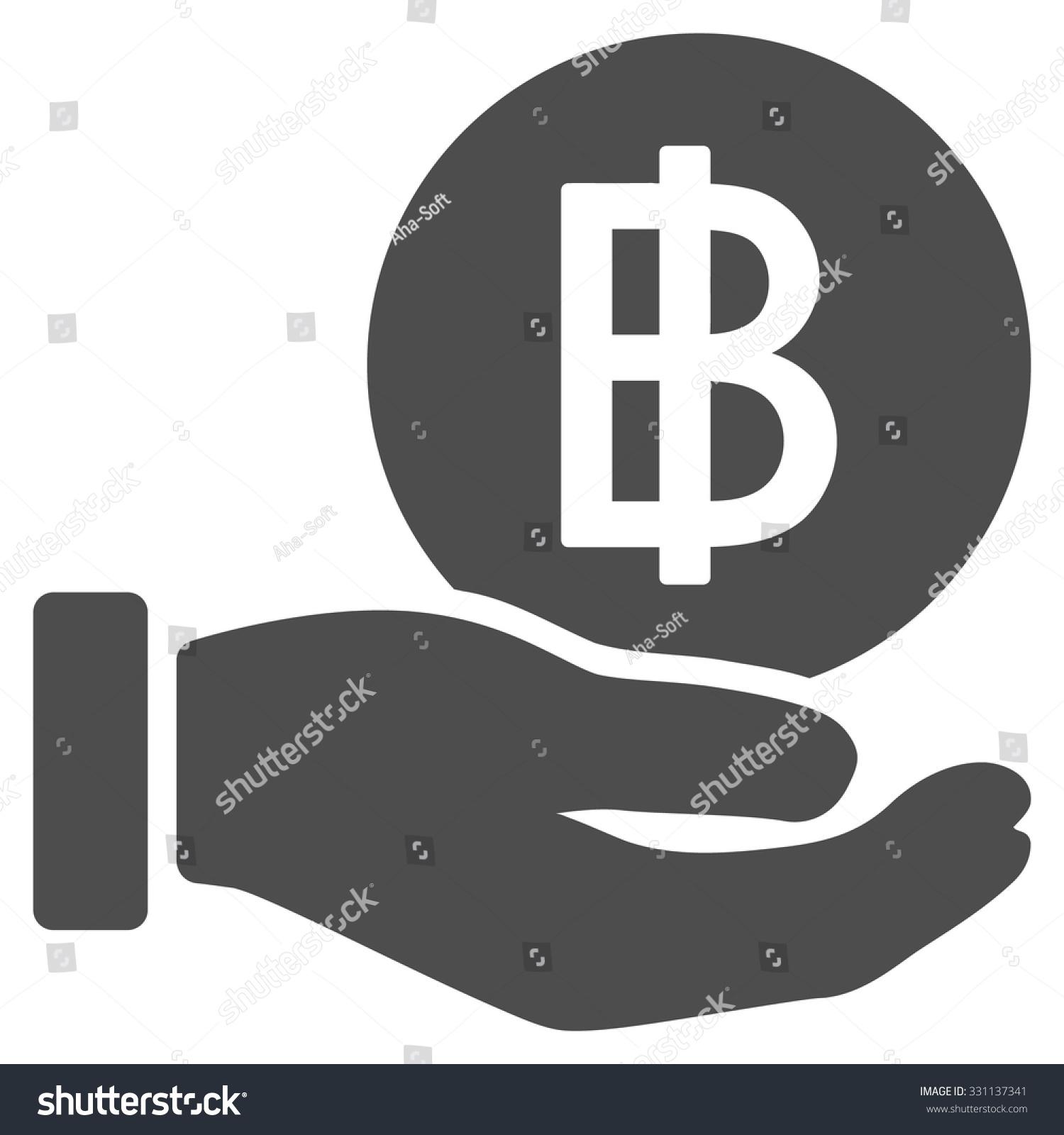 Thai Baht Coin Payment Vector Icon Stock Vector 331137341 Shutterstock