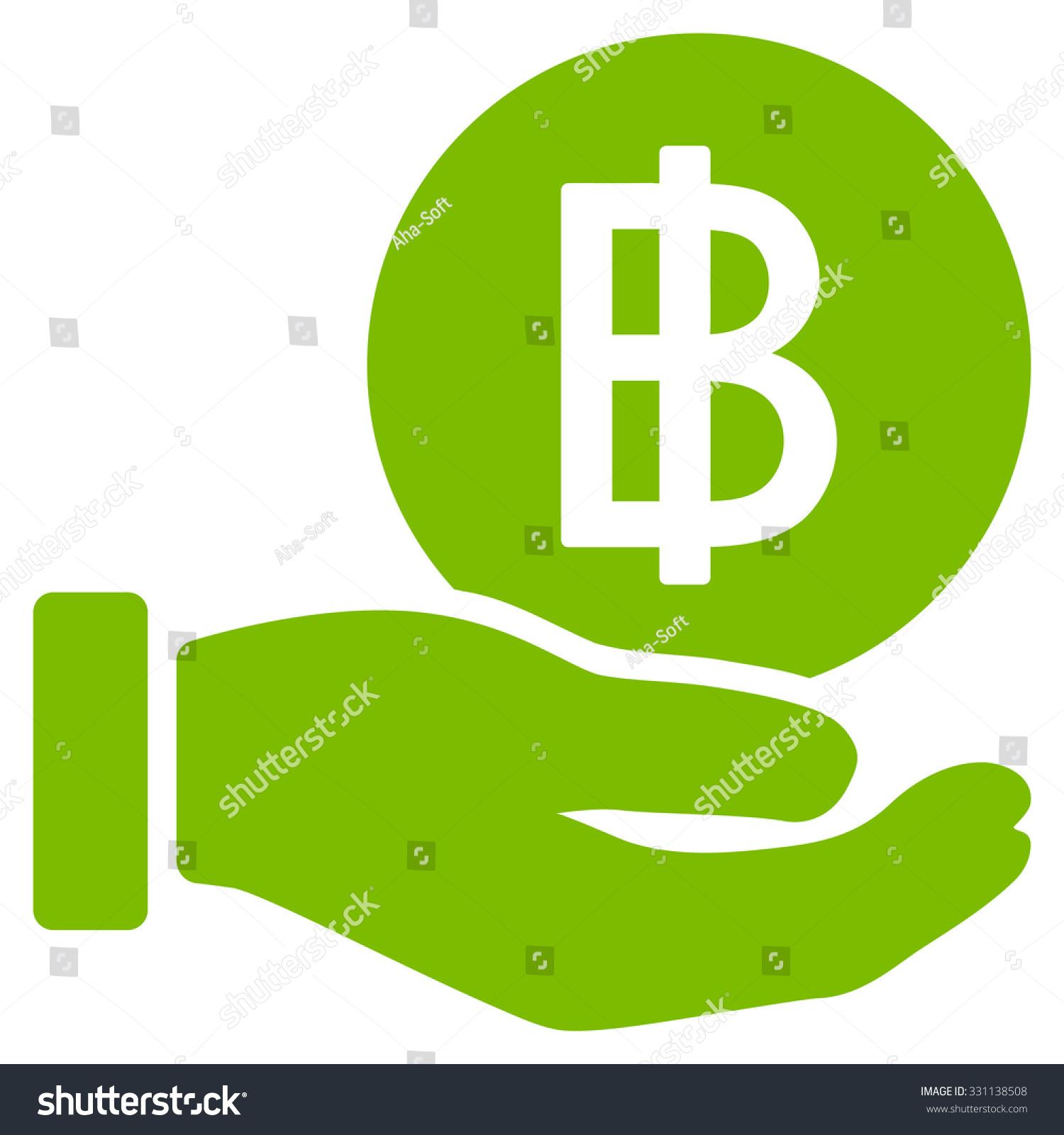 Thai Baht Coin Payment Vector Icon Stock Vector Royalty Free