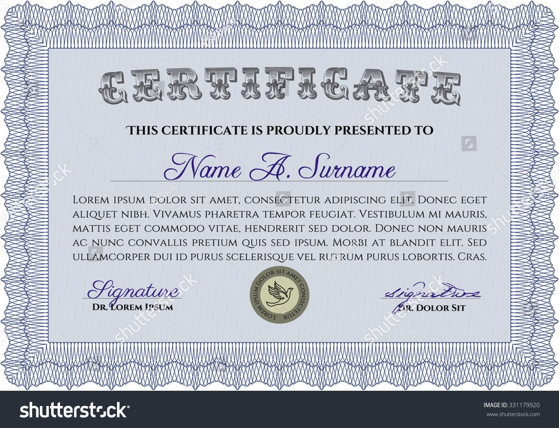 Sample certificate diploma elegant design quality stock vector sample certificate or diploma elegant design with quality background detailed yadclub Gallery