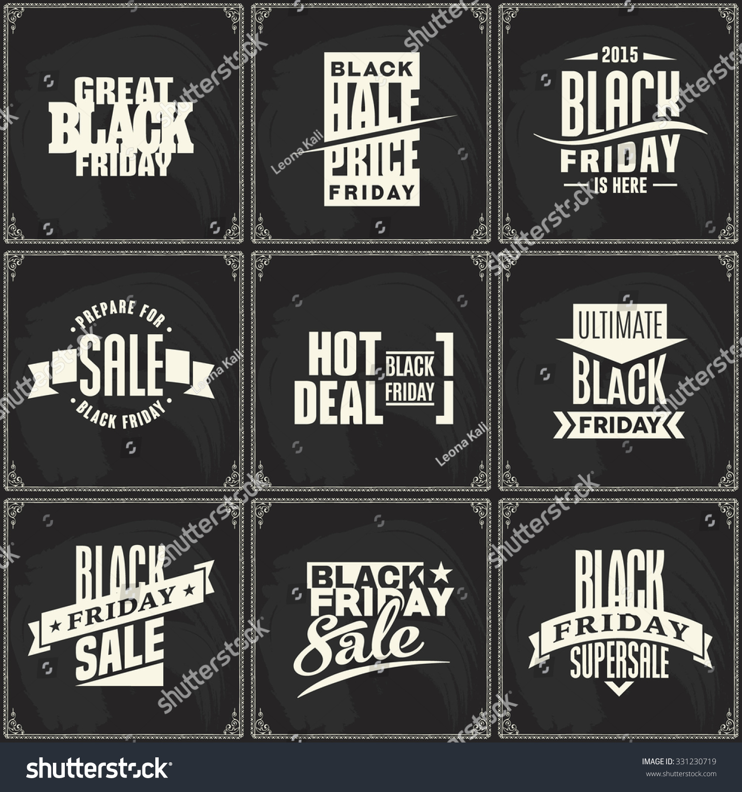 Black Friday Vector Label Template Advertising Stock Vector (Royalty ...