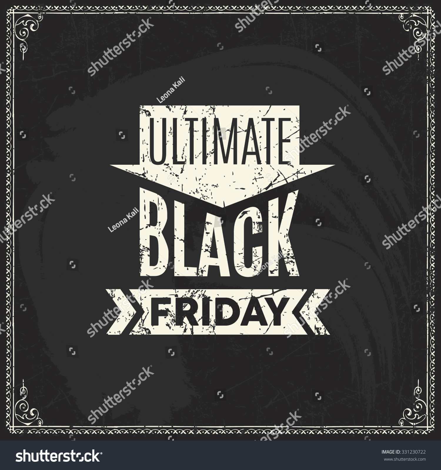 Black Friday Vector Label Template Advertising Stock Vector ...