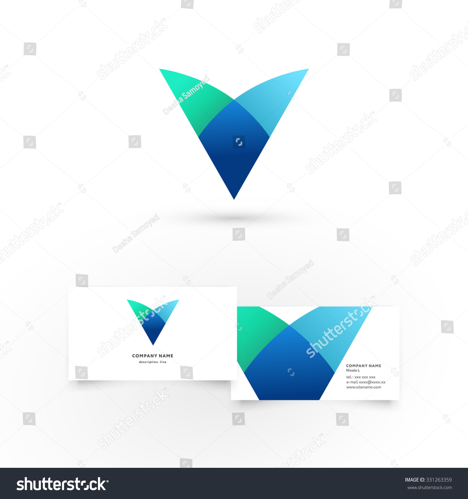Modern icon design v letter shape stock vector 331263359 modern icon design v letter shape element with business card template best for identity and magicingreecefo Choice Image