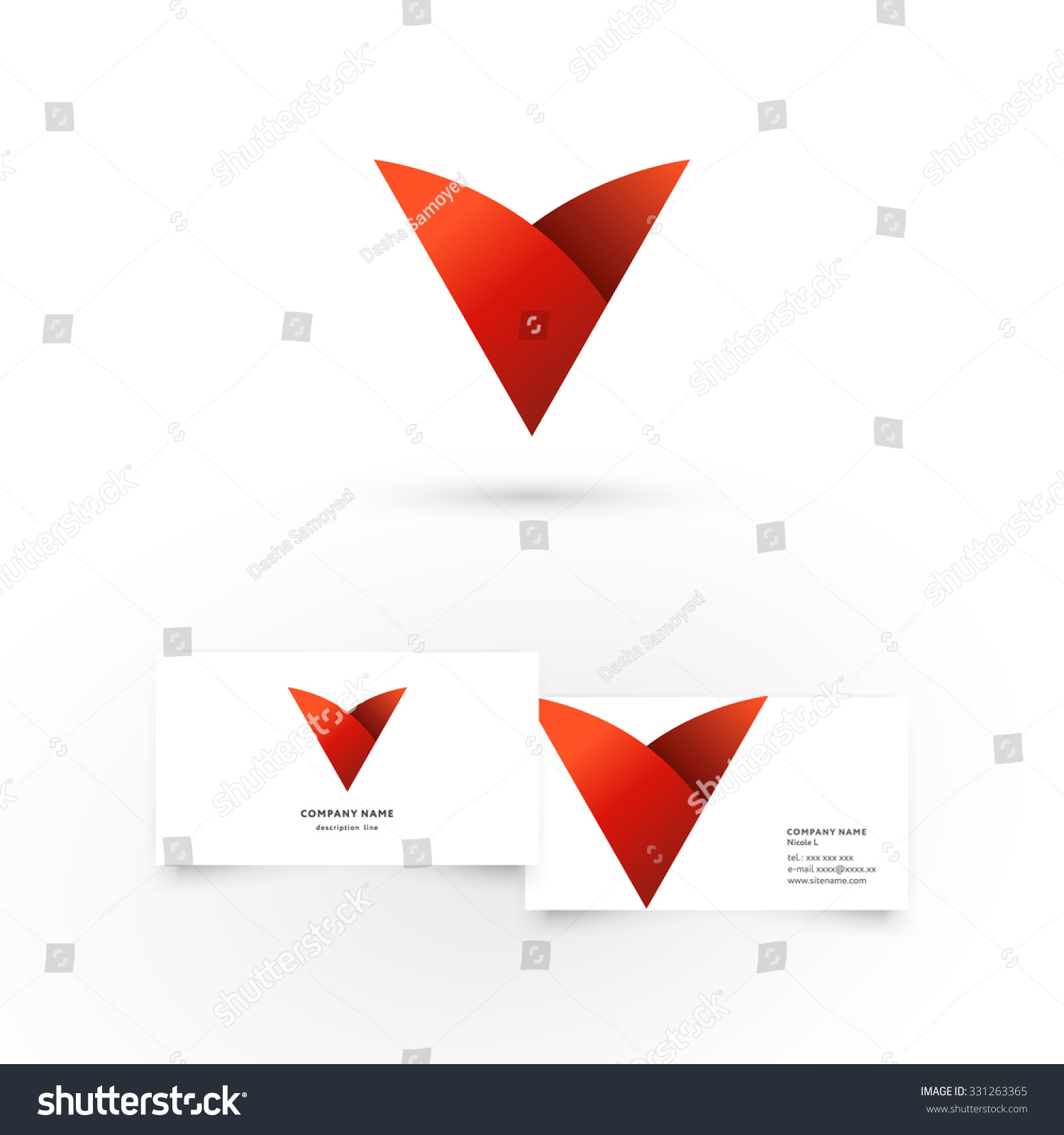Modern icon design v letter shape stock vector 331263365 modern icon design v letter shape element with business card template best for identity and magicingreecefo Choice Image