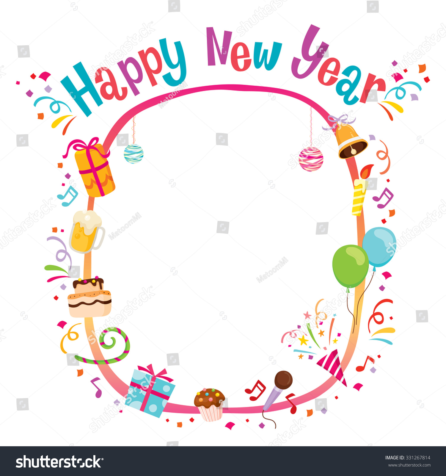 New Years Frame - New Year\'s Eve Frame Stock Photos - Image: 7428593 ...