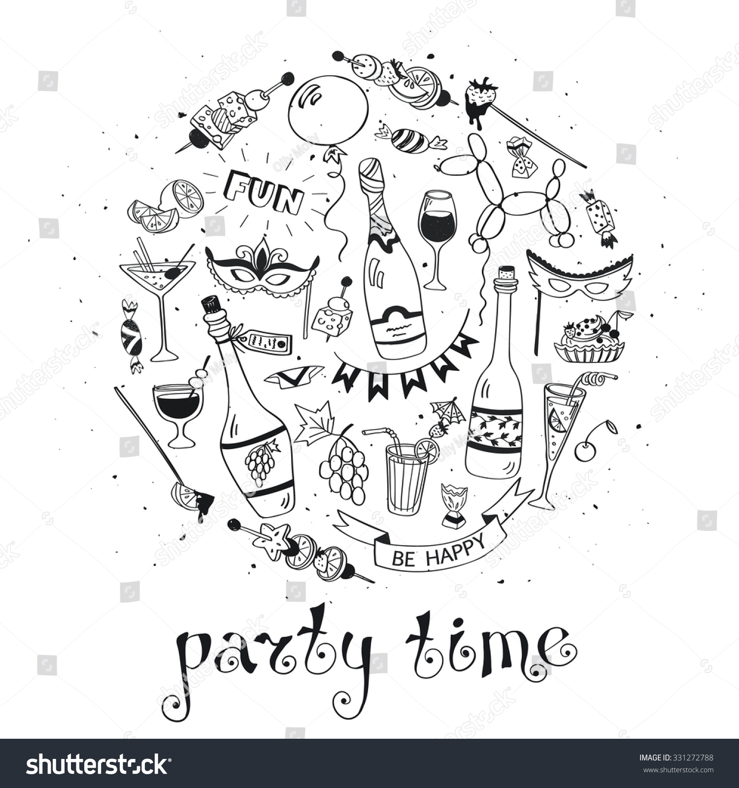Party Time Poster Concept Concept Party Stock Vector 331272788 ...