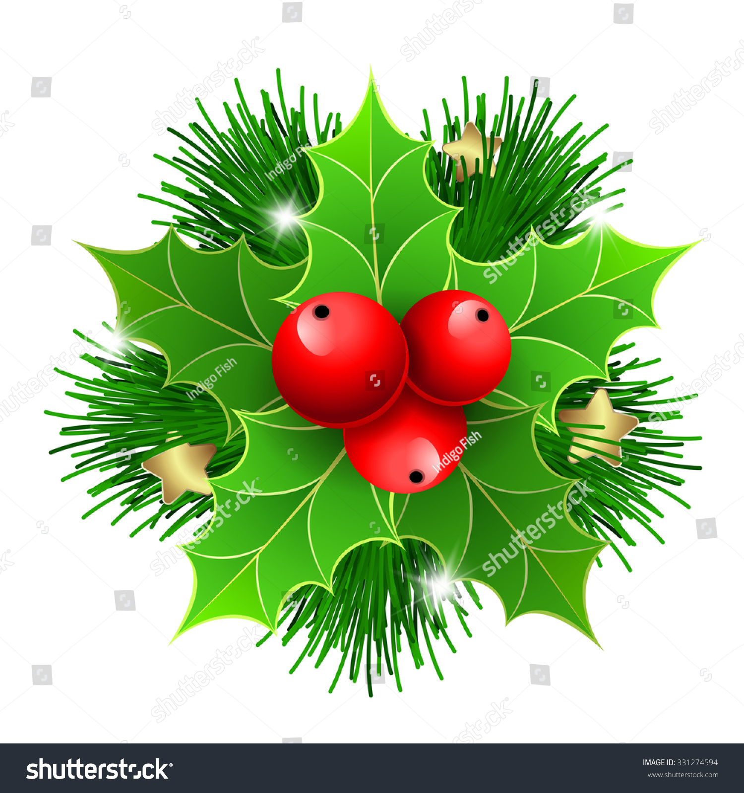 christmas holly with berries and christmas tree branches for christmas posters icons christmas - Branch Christmas Tree