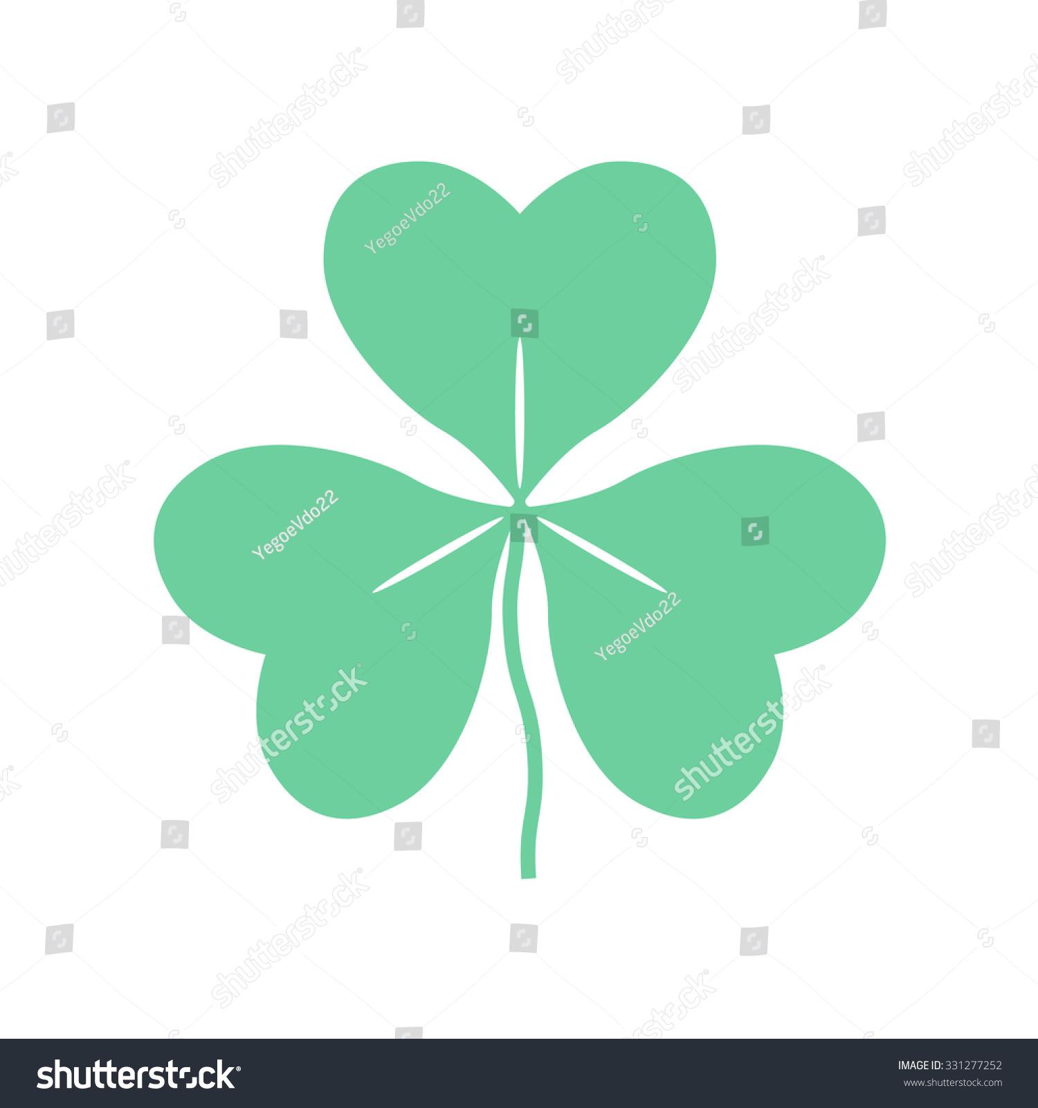 Leaf clover saint patrick symbol stock vector 331277252 shutterstock leaf clover saint patrick symbol biocorpaavc