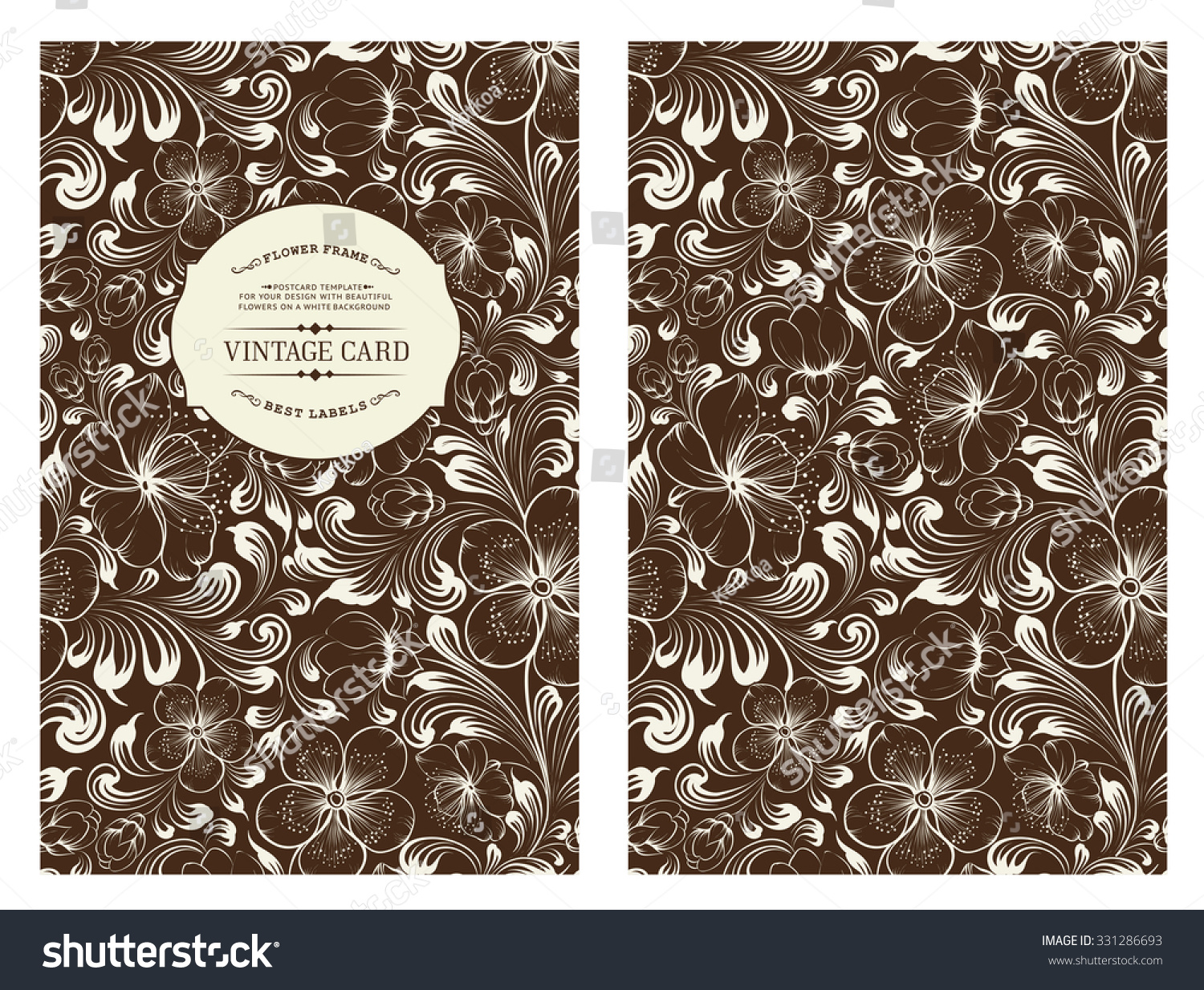Book Cover Design Flower : Cover design you personal colored stock vector
