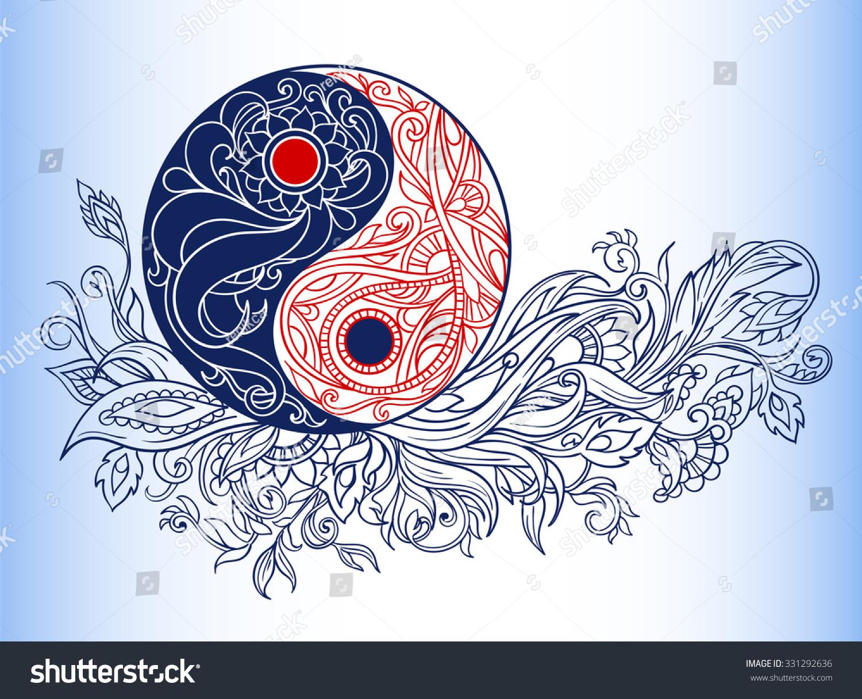 Yin yang symbols allegory opposites philosophy stock vector yin yang symbols as an allegory of opposites and philosophy of life buycottarizona