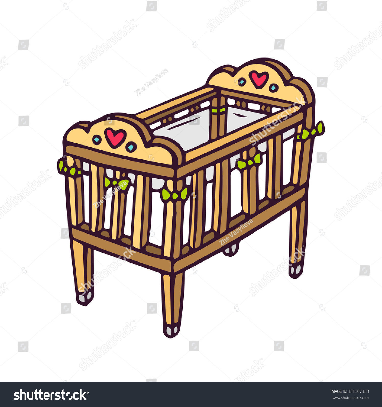 Adalat 60 oros.doc - Baby Bed Vector Free Baby Crib Bright Vector Children Illustration Of Newborn S Cot Isolated