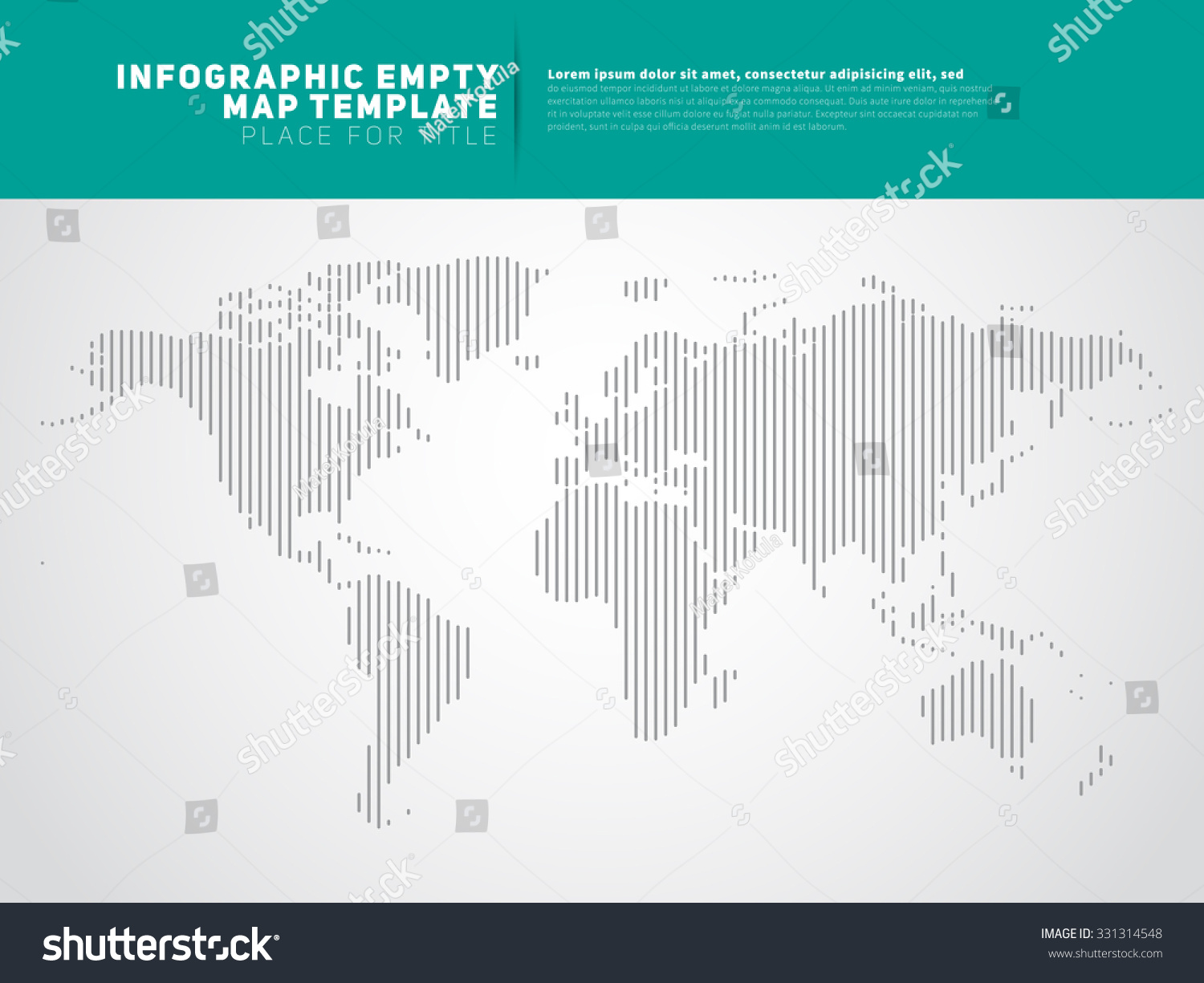 World continents vertical lines infographic empty vector de world continents in vertical lines infographic empty map template vector gumiabroncs Choice Image