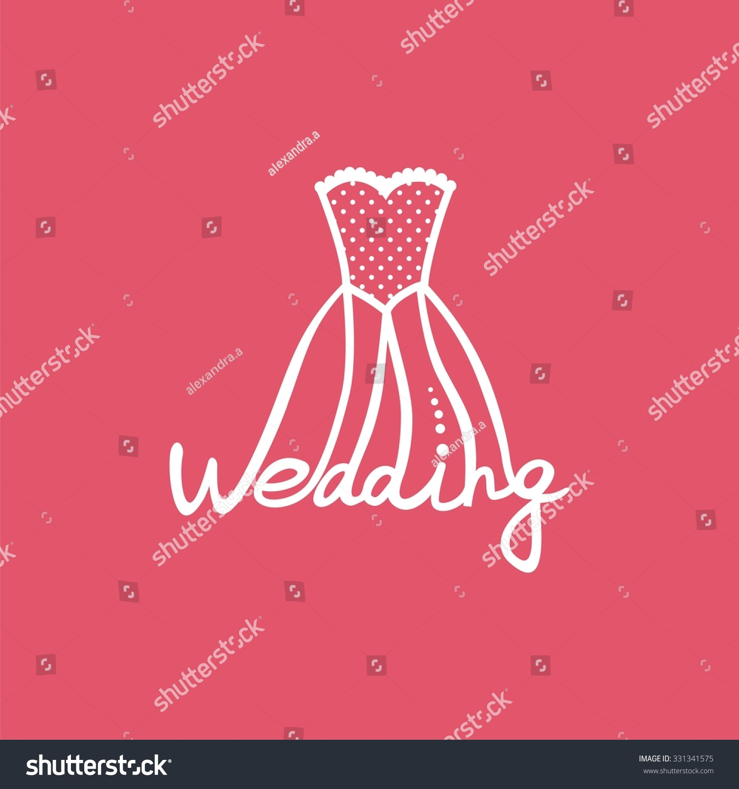 Logo Wedding Dress Image Invitation Card Stock Vector HD (Royalty ...