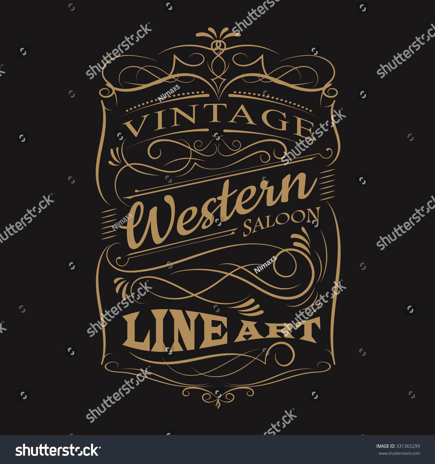 Shirt design vintage - Vintage Label Typography Western Hand Drawn Frame T Shirt Design Vectors