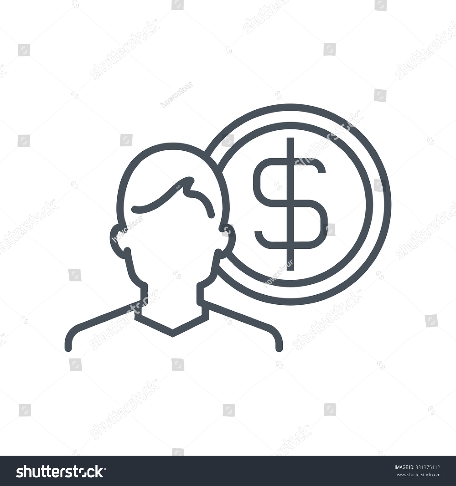 wealth salary icon suitable info graphics stock vector  wealth salary icon suitable for info graphics websites and print media colorful vector