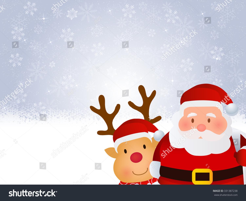 christmas santa snow background stock illustration 331387238