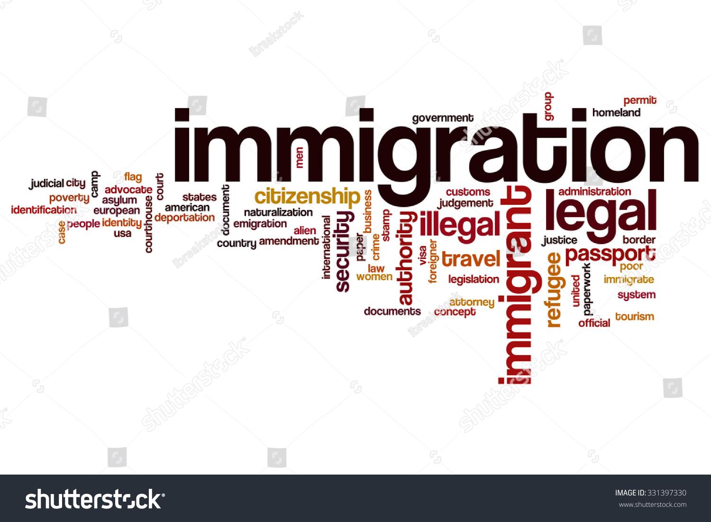 immigration word cloud stock illustration 331397330