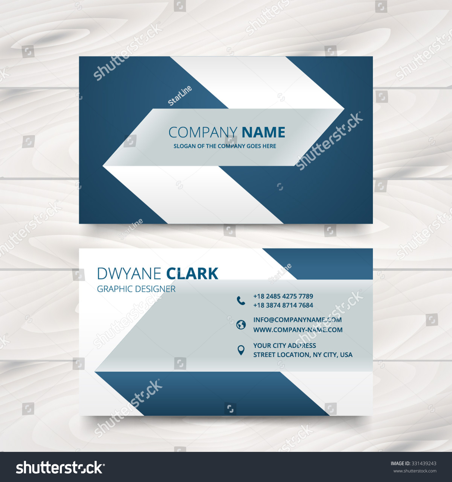 Creative Simple Business Card Vector Design Stock Vector 331439243 ...